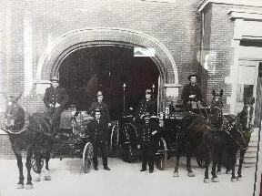 Photo of AFD's Horse Brigade Early 1900's