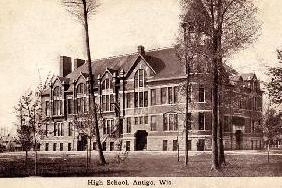 Photo of Antigo High School Fire 1916
