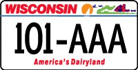 Image of Wisconsin Automobile License Plate